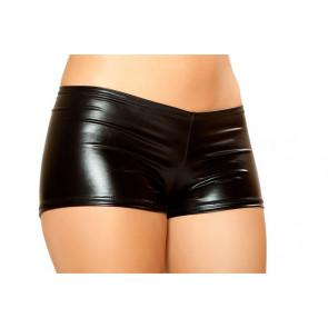 Roma Costume Metallic Shorts mit Pucker hinten - schwarz