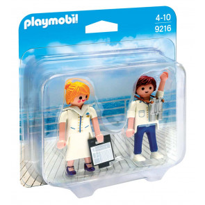PLAYMOBIL Duo Pack Stewardess und Offizier