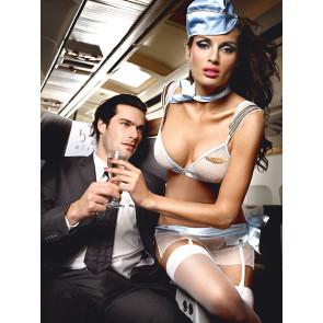 Baci First Class Stewardess-One-Size-Weiss
