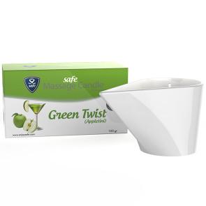 Safe - Massagekerze Green Twist Appeltini