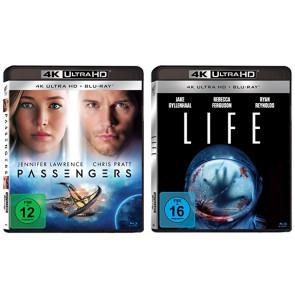 Passengers / Life - 2x 4K Ultra HD Blu-Ray