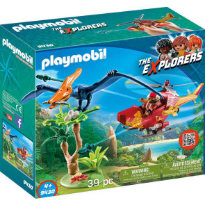 PLAYMOBIL The Explorers - Helikopter mit Flugsaurier
