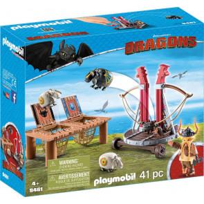 PLAYMOBIL Dragons - Grobian mit Schafschleuder