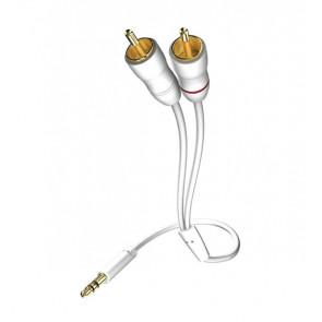 Inakustik Star Audio MP3 3.5 Klinke - 2x Cinch Weiss 1.5m
