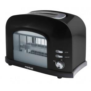 Rotel Toaster mit Fenster, schwarz