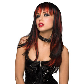 Pleasure Wigs Courtney Perücke - Black with Burnt Red