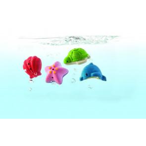 Plan Toys Badeset - Vier Meerestiere