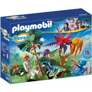 PLAYMOBIL Super 4 Lost Island mit Alien und Raptor
