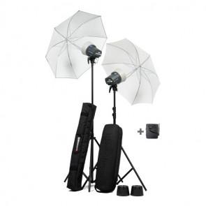 Elinchrom D-Lite RX ONE (2 Kopfs) Schirm Set mit Stativ