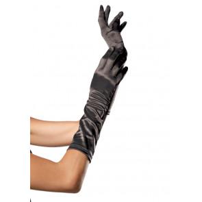 Leg Avenue Ellbogenlange Satin Handschuhe