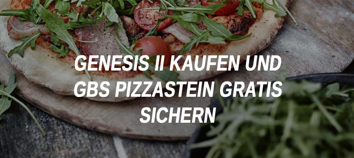 Weber Genesis // gratis Pizzastein