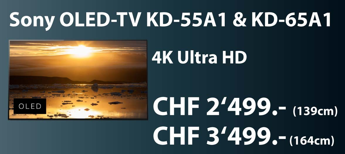 Sony OLED TV KD 55A1 und KD65AI